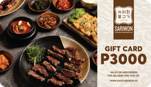 Load image into Gallery viewer, Sariwon Korean Barbecue Gift Card