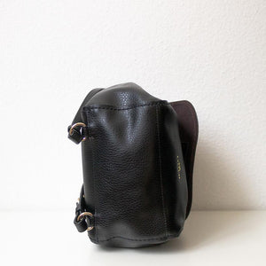 A black backpack from under.