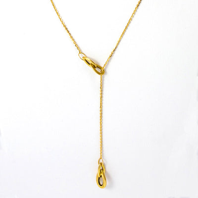 Collier cravate or jaune