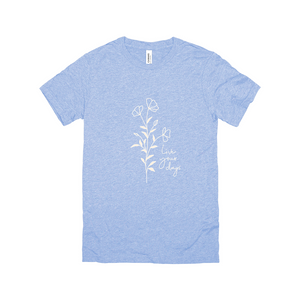 Floral Line Drawing T-Shirt