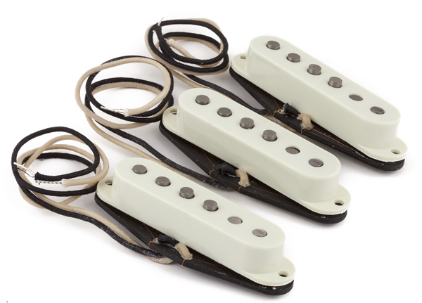 FENDER Pure Vintage '59 Strat® Pickup Set, Vintage White (3)