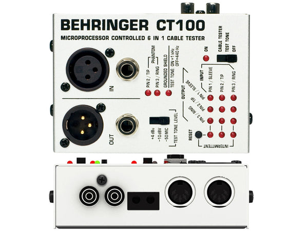 BEHRINGER CT100 Cable Tester - La Pietra Music Planet