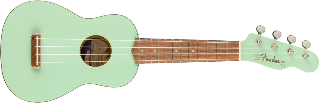 FENDER Venice Soprano Uke Walnut Fingerboard Surf Green