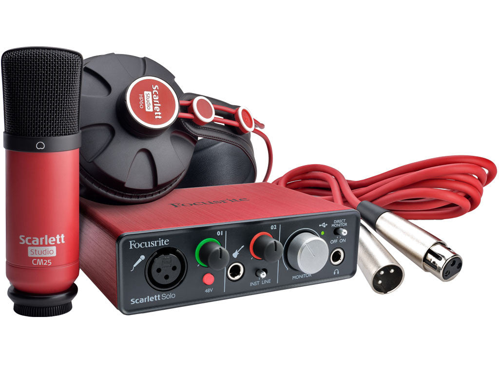 FOCUSRITE Scarlett Solo Studio Pack (2nd generation) - La Pietra Music Planet