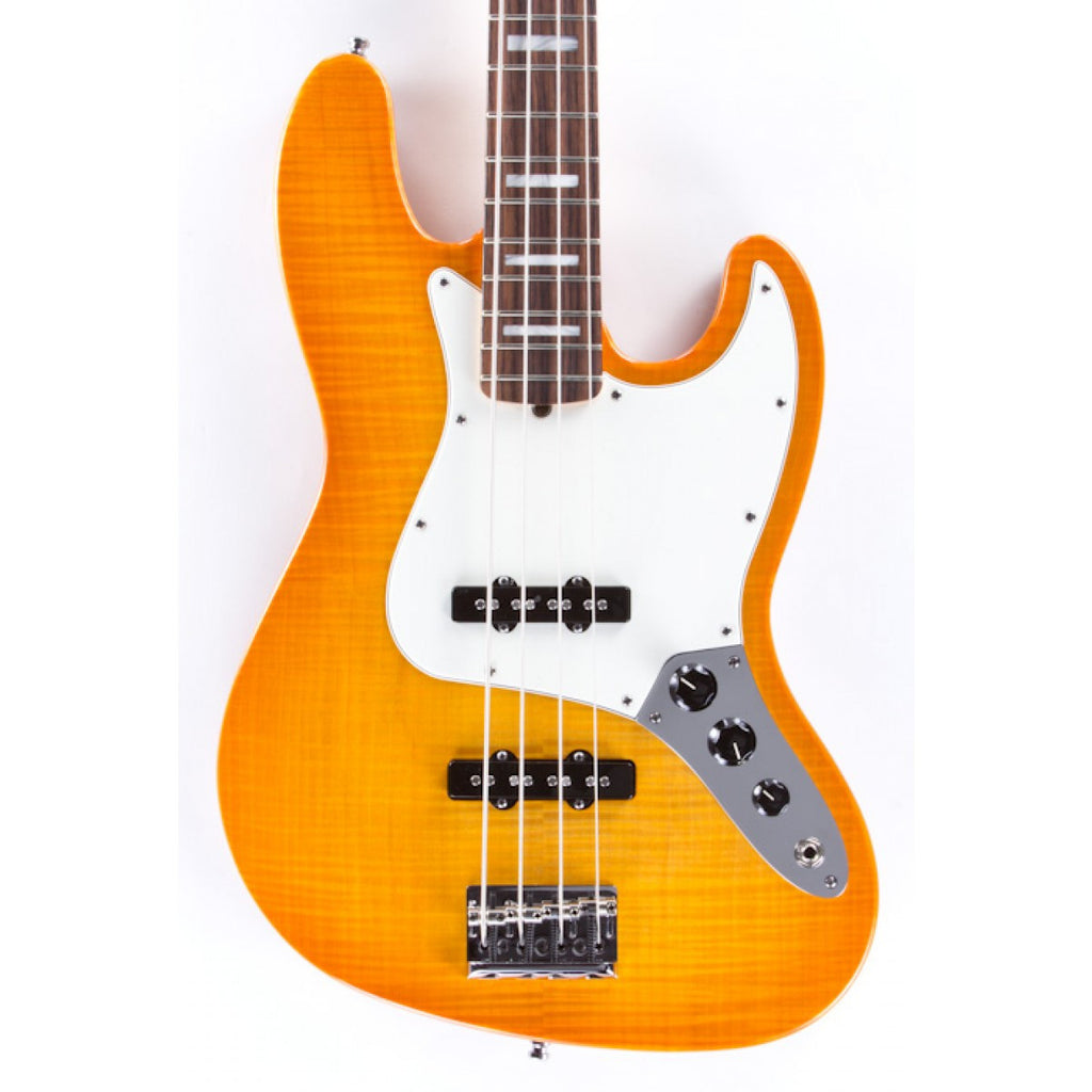 FENDER Jazzbass Usa Select Amber Burst - La Pietra Music Planet - 1