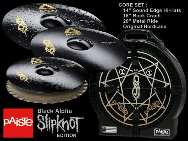 PAISTE SET ALPHA BLACK J JORDISON SIGNATURE