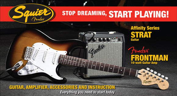 FENDER StratoCaster Affinity Start Pack SunBurst