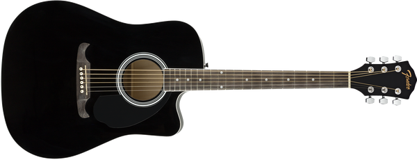 FENDER FA125CE Dreadnought Walnut Fingerboard Black