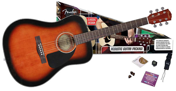 FENDER Cd60 pack Sunbust - La Pietra Music Planet