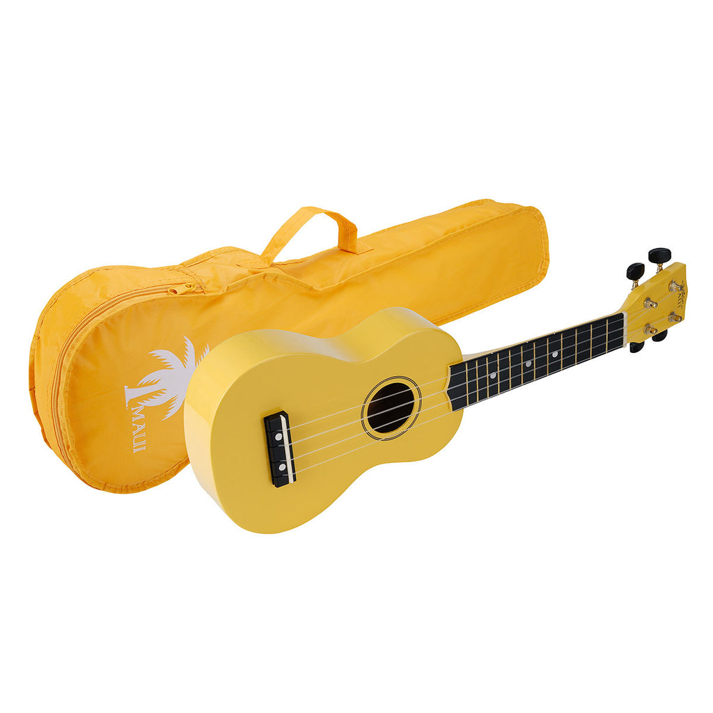 SOUNDSATION MUk10 Ukulele Soprano Yellow Con Borsa - La Pietra Music Planet
