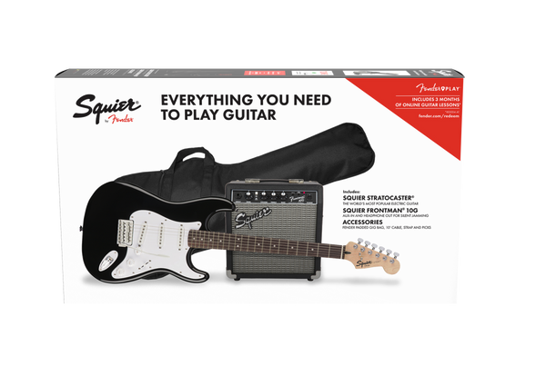 SQUIER STRATOCASTER BLACK GUITAR PACK