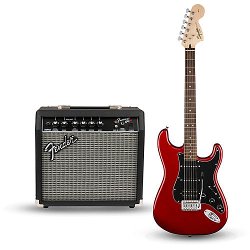 SQUIER Affinity Series™ Stratocaster® HSS Pack, Laurel Fingerboard, Candy Apple Red, Gig Bag, 15G - 230V EU