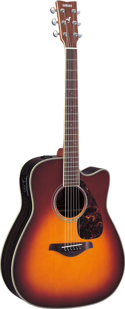 YAMAHA Fgx730sC II Brown Sunburst - La Pietra Music Planet