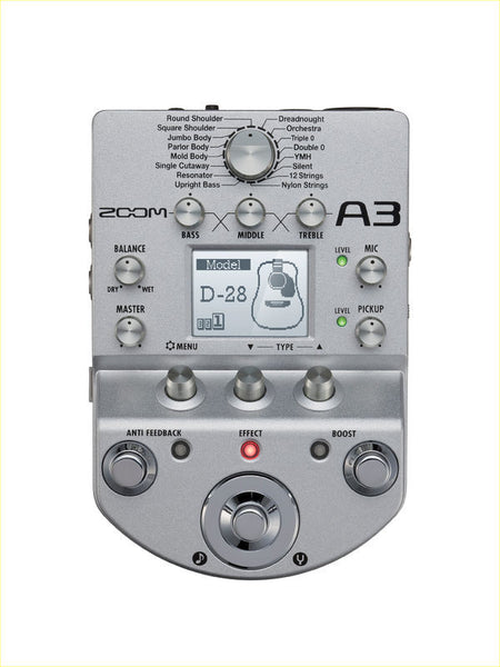 ZOOM A3 StompBox Acustica - La Pietra Music Planet