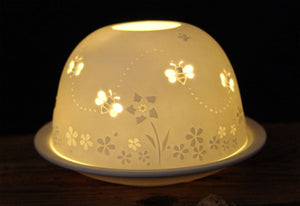 Porcelain Dome Design 115 - Bees in the Garden
