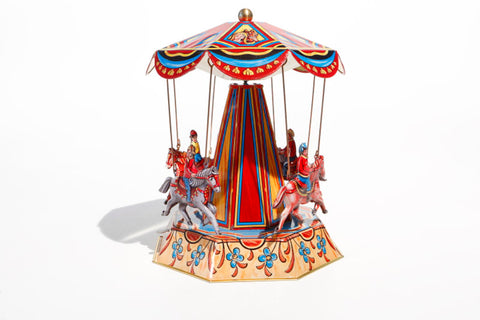 Royal Equestrian Carousel Tin Toy