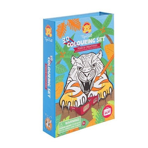 Fierce Creatures 3D Colouring Kit