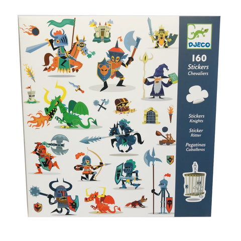 160 Knights and Dragons Stickers