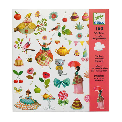 160 Princess Tea Party Stickers