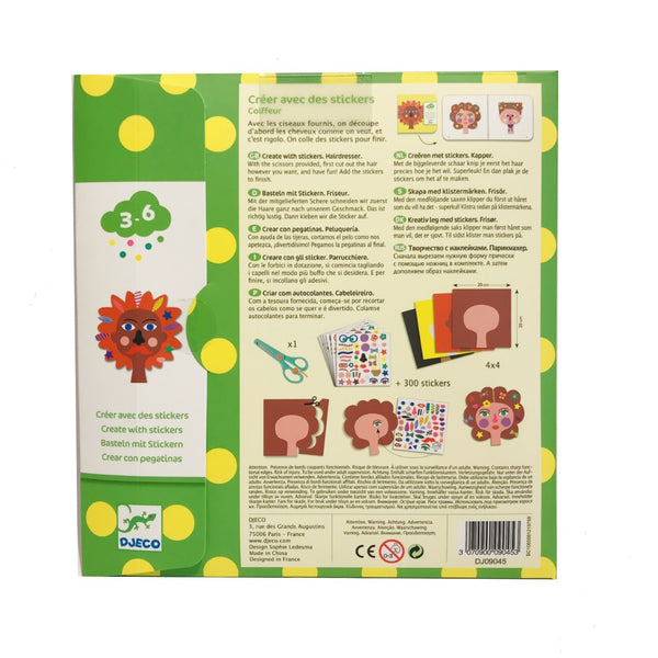 Scissor and Sticker Hairdresser's Activity Sheets