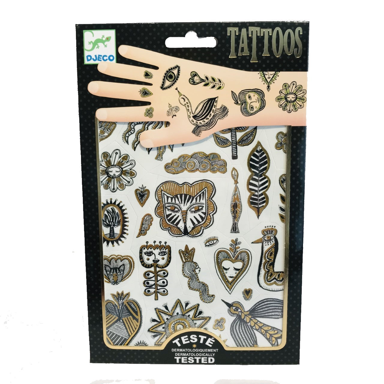 Black and Gold Temporary Tattoos