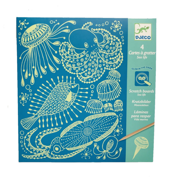 Scratch Boards - Glow in the Dark Sea Creatures