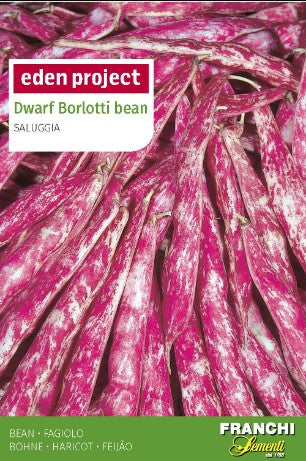 Eden Project Dwarf Borlotti Bean Seeds