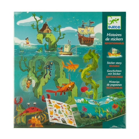 Adventures at Sea Reuseable Sticker Scenes