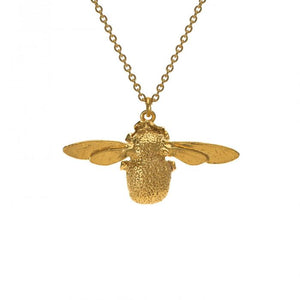 Gold Plate Bumblebee Necklace
