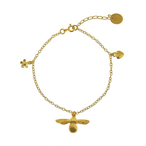 Gold Plated Baby Bee Bracelet