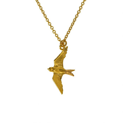 Gold Plate Swallow Necklace