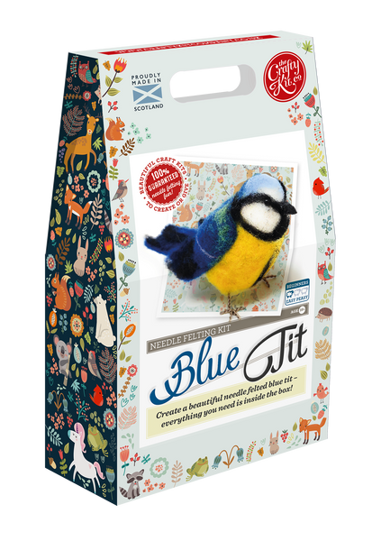 British Birds Blue Tit Needle Felting Kit