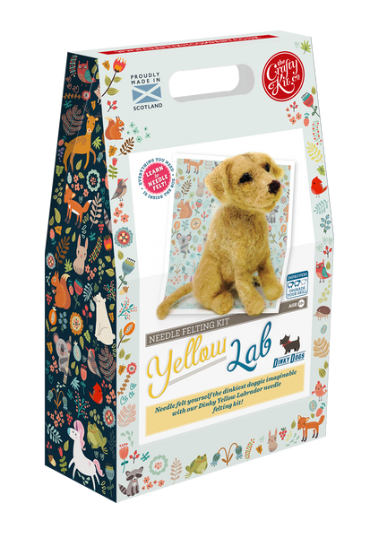 Dinky Dogs Yellow Labrador Needle Felting Kit