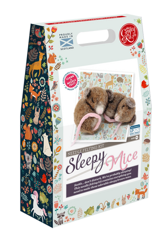 Sleepy Mice Needle Felting Kit