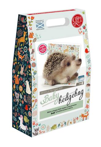 Baby Hedgehog Needle Felting Kit