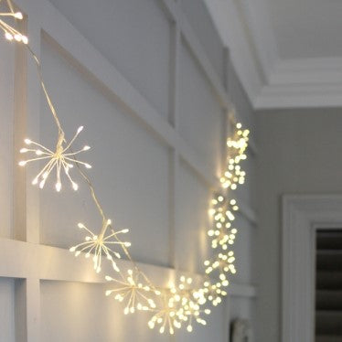 Silver Starburst LED Light Chain