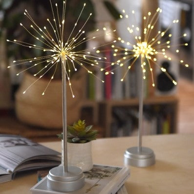 Silver Starburst Table LED Light