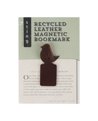 Recycled Leather Bookmark Bird