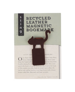 Recycled Leather Bookmark Cat