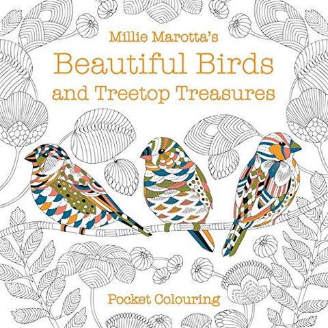 Beautiful Birds and Treetop Treasures Pocket Colouring Book