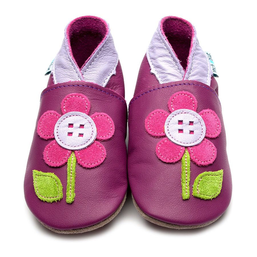 Flower Button Soft Soled Shoes