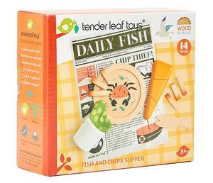 Fish and Chips Wooden Play Set