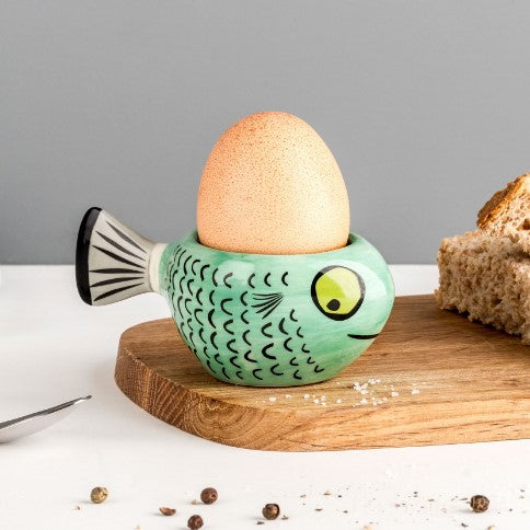 Green Fish Egg Cup