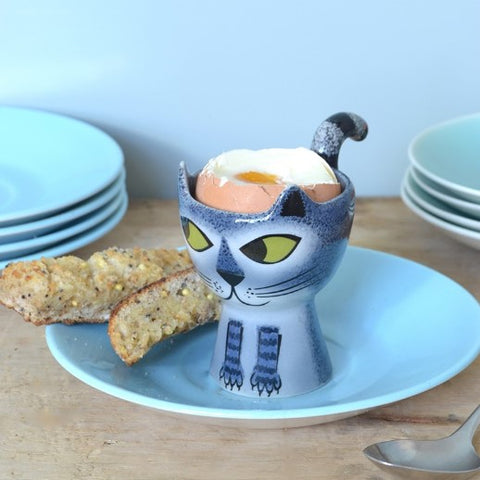 Grey Cat Egg Cup