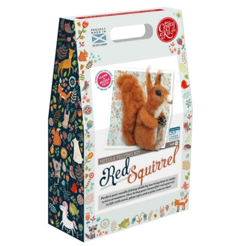 Highland Squirrel Needle Felting Kit