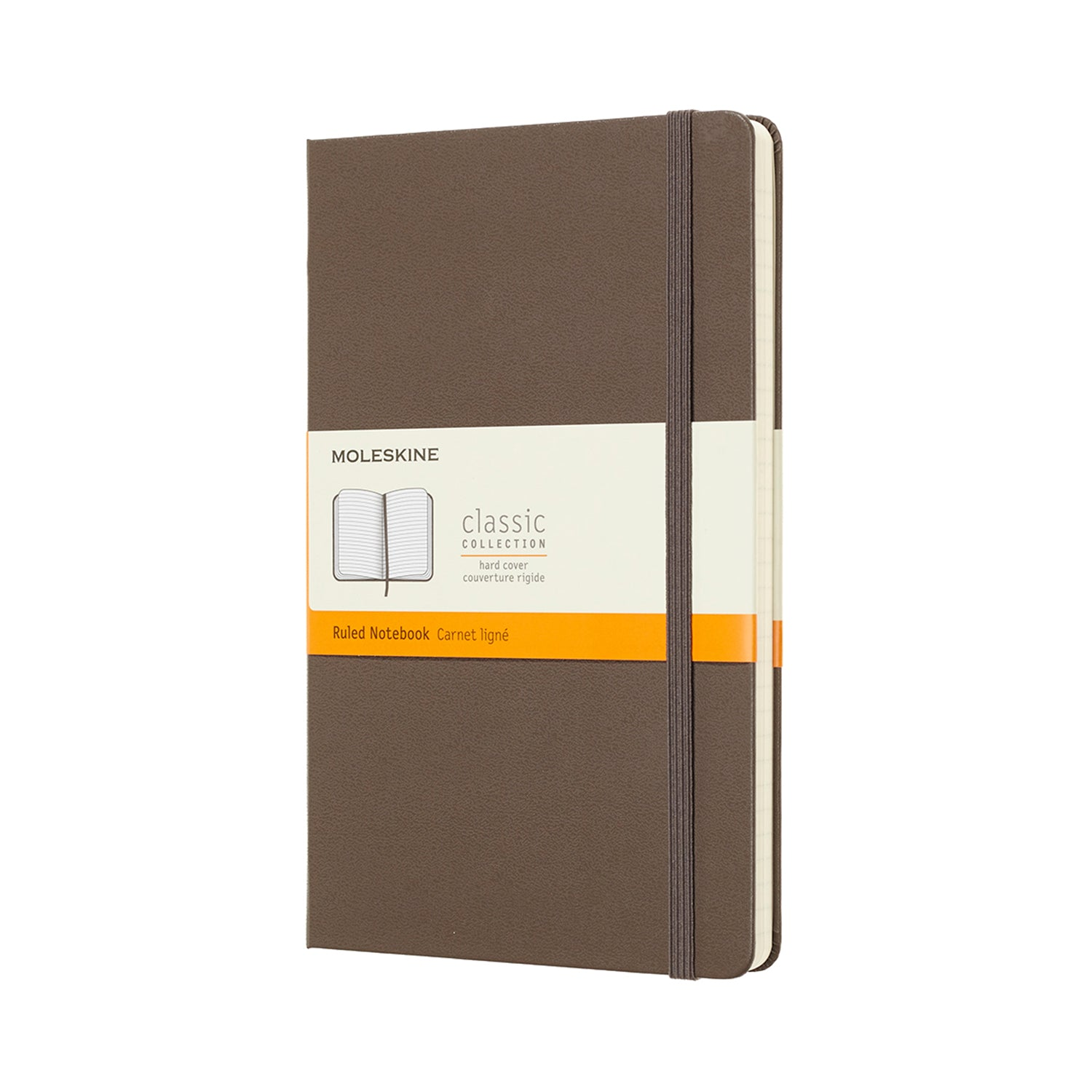 Large Soft Brown Hard Cover Moleskine Ruled Notebook