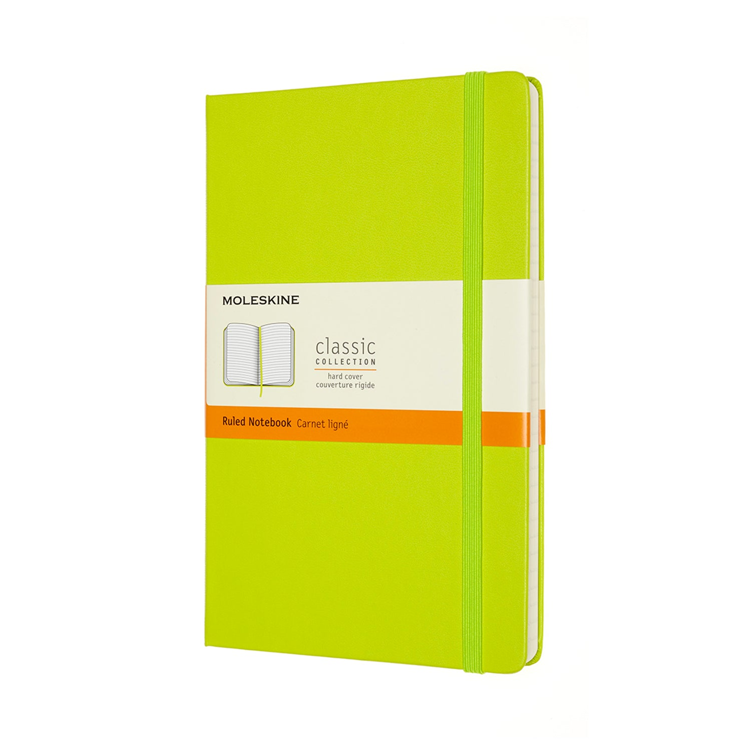 Large Light Green Hard Cover Moleskine Ruled Notebook