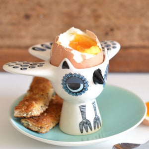 Blue Owl Egg Cup
