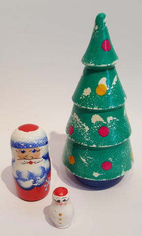 3 Piece Nesting Doll Christmas Tree