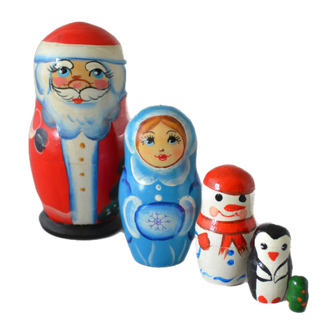 5 Piece Nesting Doll Father Christmas